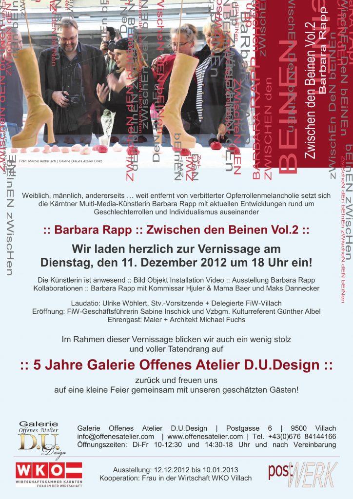 "Ausstellung ""Zwischen den Beinen"" Barbara Rapp, Kommissar Hjuler, Mama Baer, Maks Dannecker, Ulrike Wöhlert, Sabine Inschick, Günther Albel, Michael Fuchs, Dorothee Unkel, Kunstverein postWERK,"